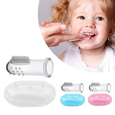 Massager Dental Care Kids Baby Infant Finger Toothbrush Teeth Soft Silicone