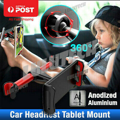 360° Car Seat Back Metal Headrest Mount Holder For iPhone iPad Mini Tablet Brack