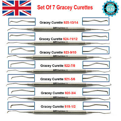 Dental Root Planning Gracey Curettes Calculus Removers Sharp Edge Scalers