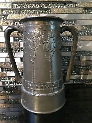 Liberty & Co Tuderic Art Nouveau Double Handled Pewter Loving Cup David VEASEY