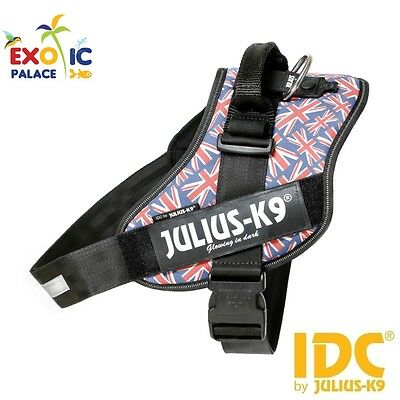 Julius-K9 Idc Powerharness Uk United Kingdom Flag Pettorina Per Cane In Nylon