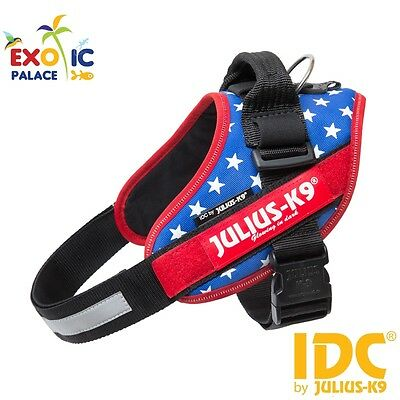 Julius-K9 Idc Powerharness Bandiera America Usa Flag Pettorina Per Cane In Nylon