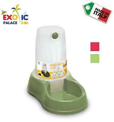 Dispenser Ciotola Break Reserve Acqua Per Cane Gatto Distributore In Plastica