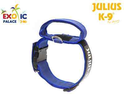 Julius-K9 Collare Con Manico Per Cane In Nylon Blu Con Chiusura Di Sicurezza Dog