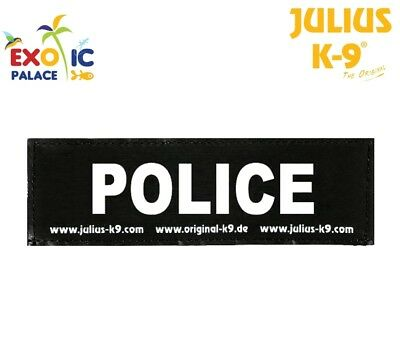 Julius-K9 2 Etichette In Velcro Patch Police Per Pettorina Cane Idc Belt Power