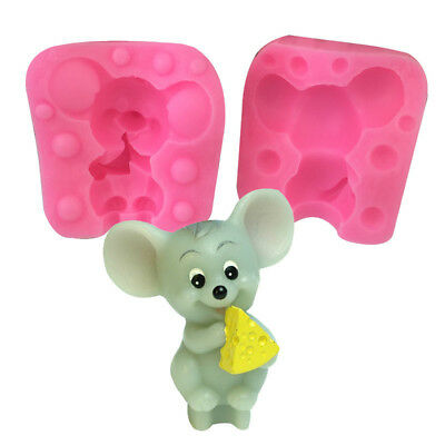 3D Mouse Eating DIY Silicone Cake Fondant Cookies Chocolate Decorate Mold Tool
