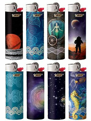 New BIC Special Edition Exploration Series Lighters, Set of 8 Lighters