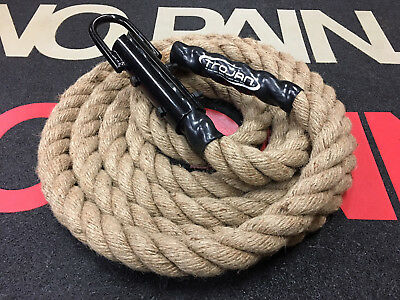 Climbing Rope with Hook 5 or 8 Mtr Core Fitness Legs Upper Body Strength