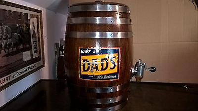 Dads Root Beer barrel soda fountain cola pepsi bottle coca hires dog n suds sign