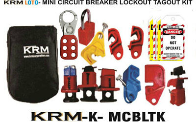 Krm Loto - Mini Circuit Breaker Lockut Tagout Kit