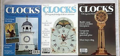 CLOCKS MAGAZINES -  1993 - Eleven copies - Jan to May, July to Dec.