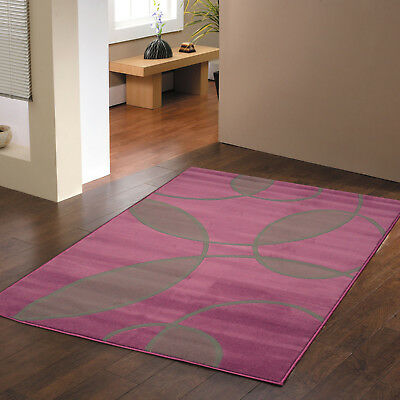 Alpha Rugs Modern Leafs Pattern Large - Extra Large Clearance Aubergine Grey Mat