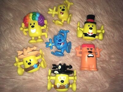 Wow Wow Wubbzy PVC Figures, Lot of 8, 2007 Mattel, 2007 Bolder Media