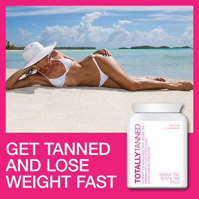 Totally Tanned Skinny Tan Tablets Tanning Pills Get Slimmer & Golden Brown