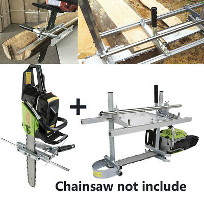"""Portable Chain Saw Mill Log Planking Lumber Cutting fit 14"""" - 24"""" Chainsaw Guide"""