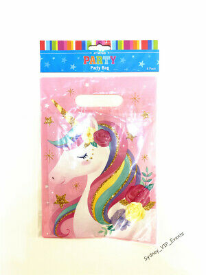 New Unicorn Party Bags Girls Birthday Lolly Favour Treat Loot Bags Girl Birthday