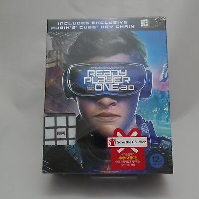 Ready Player One (2018, Blu-ray) 2D & 3D Combo Slip Case w/ Cube key chain