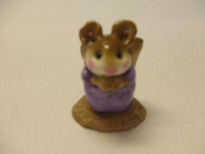 wee forest folk mice A.P. 1987 PAGENT ANGLE PURPEL  pre owned mint
