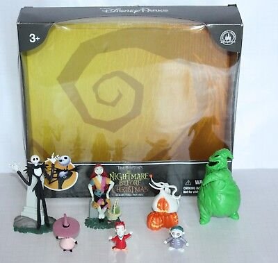 Disney Parks Nightmare Before Christmas Collectible Figures - Figurine Set