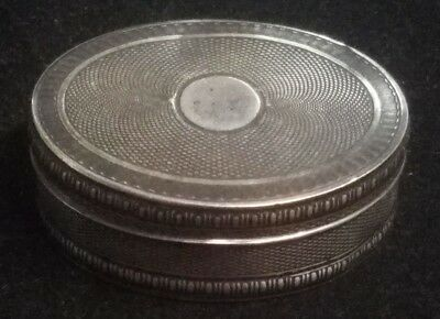"Russian? European Silver 27 Grams  2 1/8"" x 1.5"" x 7/8"" Pill Box (Sb2 21)"