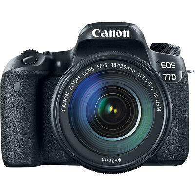 Canon EOS 77D 24.2 MP CMOS (APS-C) DSLR Camera with EF-S 18-135mm IS USM Lens