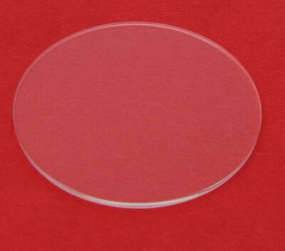 """2"""" Diameter Clear Laser Cut Acrylic Circles 1/8"""" thick"""