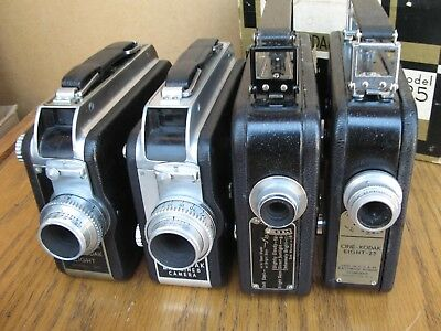 FOUR Cine-Kodak 8mm Movie Cameras all different Collection NoReserv