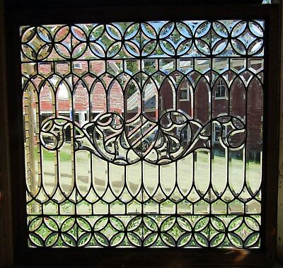 Superb Large Size Victorian Beveled Glass Window