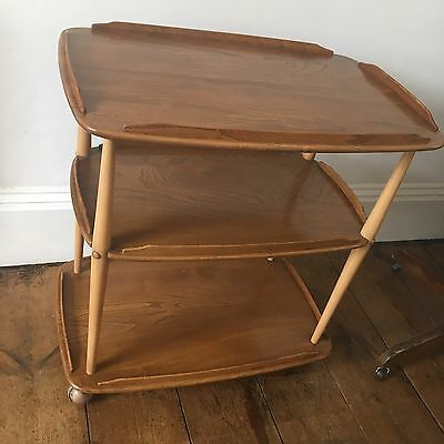 Ercol Vintage 1960s Mid Century Elm & beech Golden Dawn Drinks Trolley