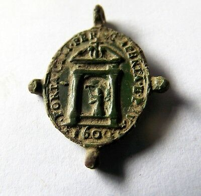 Medieval Bronze Holy Medal 1600 a.d.