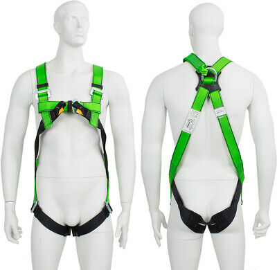 2 Point Full Body Height Safety Fall Arrest Restraint Scaffold Harness S-XXL
