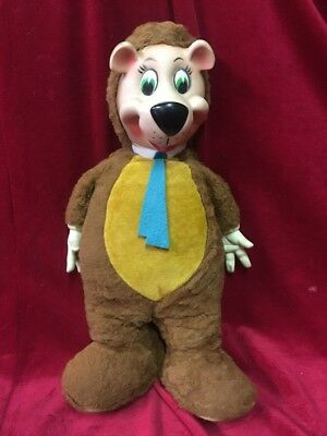 Vintage Yogi Bear Rubber Face Hands Plush Toy Stuffed Animal