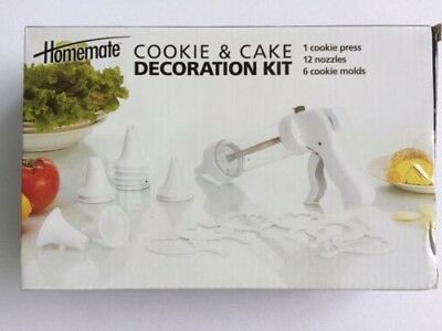 HOMEMATE Cake and Cookie Decoration Kit NEW in PACKAGE with FREE SHIPPING!