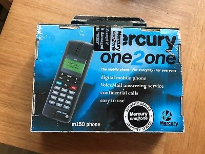 Mercury one2one M150 Mobile Phone Charger And Instructions Vintage Rare Retro