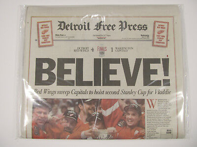 Vintage Souvenir Edition Newspaper 1998 NHL Stanley Cup Champs DETROIT RED WINGS