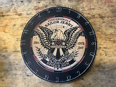 Brand New Sailor Jerry 18'' Diameter Dart Board with Eagle and Crest
