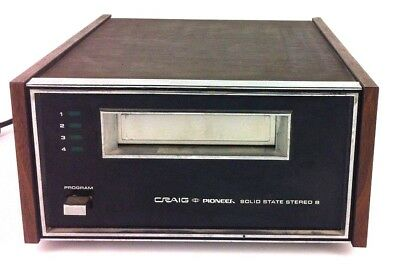 Vintage Craig Pioneer 3207 Solid State Stereo 8-Track Player - Used and Working!