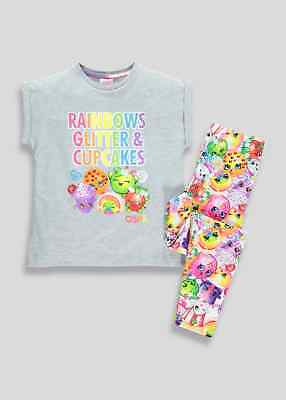 Girls  Kids Shopkins Pyjama Set Age's 4- 7 Years