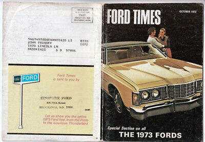 Ford Times Magazine Oct 1972 Halloween The 1973 fords lineup