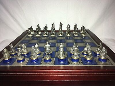 National Historical Society Franklin Mint Civil War Chess Set NR Great condition