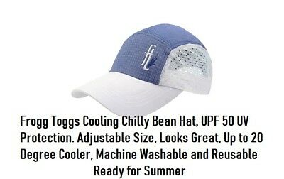 The Original Chilly Bean Cooling Hat Frogg Toggs Feel 20° Cooler, Case Included