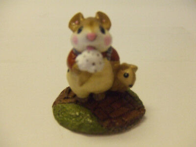 wee forest folk  W.P. 1983 MICE EATING ICECREAM PRE OWNED MINT