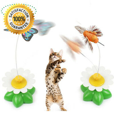CreaTion® Set of 2 Electric Pole Butterfly Interactive Toy For Cat/ Kitten...