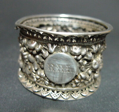 Victorian Silver Napkin Ring AF Edward Hutton London 1889 25.4g A667517