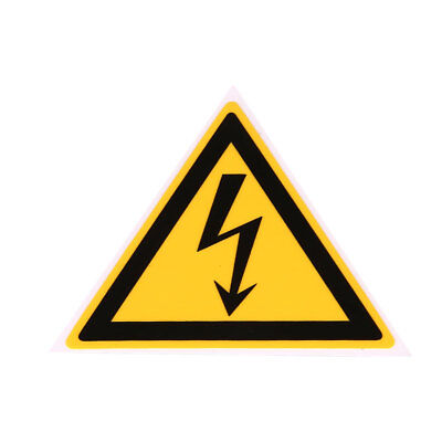 Waterproof Electrical Shock Hazard Warning Stickers Electrical Arc 50x50mm.