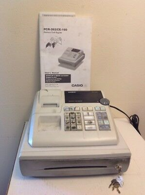 Casio PCR-262 Electronic Cash Register, pre-owned, works, w/ manual And keys