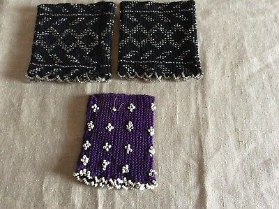 Pair of Eastern European Bead work Cuffs +one Cuff