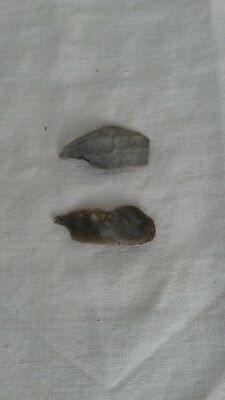 Mesolithic flint tools (microliths) found in Gloucestershire. Very good.