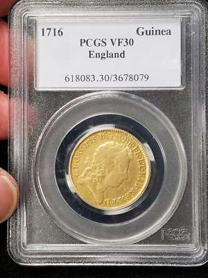 1716 Great Britain Gold Guinea PCGS VF30 England