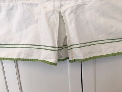 New Pottery Barn Kids apple green cribskirt